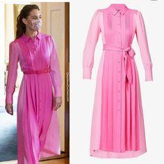 Looks Kate Middleton, Estilo Kate Middleton, Kate Middleton Dress, Princesse Kate Middleton, Kate Middleton Prince William, Prince William And Kate, Lady Diana, Kate And Meghan, Silk Shirt Dress