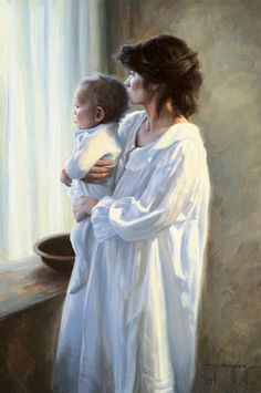 """Mother and Son"" by Robert Duncan  This was a turning point painting. It was with this painting that I decided I would paint the things that mattered most to me and find a way to make a living doing it. It made my life much richer for having made that decision."