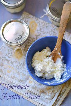 Homemade Ricotta Cheese via LittleFerraroKitchen.com by FerraroKitchen1, via Flickr