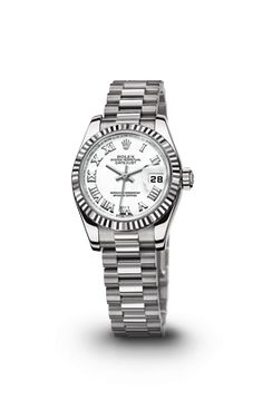 ROLEX LADY DATEJUST WATCH: WHITE GOLD - MOTHER-OF-PEARL DIAL, DIAMOND  6 O'CLOCK MARKER. ROLEX Luxury Watch for my wonderful Mom's 70th Bday! Love Her!