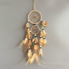 vintage home decoration retro feather dream catcher circular feathers wall hanging decor for car Note:We are the dream catcher manufacturer, . Retro Home Decor, Unique Home Decor, Home Decoration, Décor Boho, Boho Hippie, Etsy Vintage, Decor Vintage, Hippie Vintage, Dream Catcher Native American
