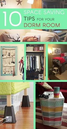 Dorm rooms are tiny, but are used for everything. This means college students have to be creative when organizing their room, to make the best use of the limited space they have. Here are 10 space saving tips to help you de-clutter and organize your...