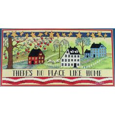 HOMELAND Cross Stitch Kit Theres No Place Like Home Patriotic Americana by NeedleLittleTherapy on Etsy Crewel Embroidery Kits, Cross Stitch Embroidery, Butterfly Photos, Old Mother, Chart Design, Linen Pillows, Cross Stitch Kits, Homeland, Nautical