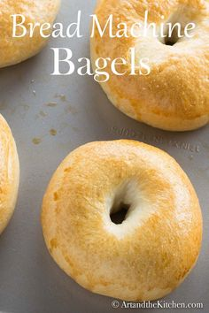 Bread Machine Bagels so easy! Time to pull out that bread machine and make delicious homemade Bread Machine Bagels. Bagel Recipe Bread Machine, Easy Bread Machine Recipes, Bagel Bread, Best Bread Machine, Bread Maker Recipes, Bread Bun, Keto Bread, Yeast Bread, Recipe For Bread Making Machine