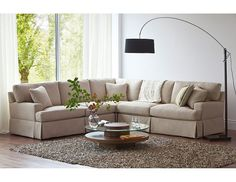 Structube - Living Room : Sectional Sofas : Dorchester (Ivory)