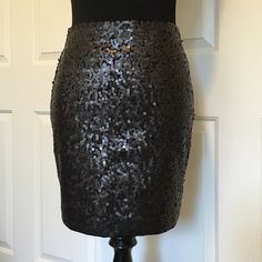 "NWT Paige Black Sequin Pencil Skirt Waist"" 29"" Length: 17"". Does stretch a little, completely lined and zips up the back. The sequins are muted a bit. I love this skirt, but my butt is too big! Paige Skirts Pencil"