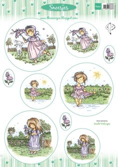 3dHm069 Snoesjes - Girls - Hetty Meeuwsen - Knipvellen - Hobbynu.nl Pretty Images, Cute Images, Cute Pictures, Hobby House, Marianne Design, Decoupage, Daisy, Projects To Try, Character Design