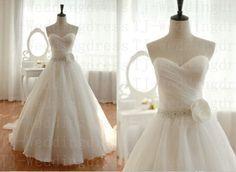 Custom Sweetheart  Wedding by hongxinweddingdress on Etsy, $150.00