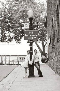 Engagement photos in Old Sacramento | CapsuleCam | trycapsule.com
