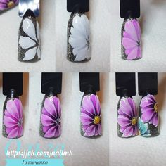 Heat Up Your Life with Some Stunning Summer Nail Art Nautical Nail Designs, Nautical Nail Art, Daisy Nail Art, Flower Nail Art, Nail Art Hacks, Nail Art Diy, Nail Manicure, Diy Nails, Nail Art Fleur