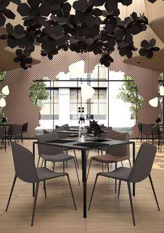Flower-Inspired Restaurant Design in Natural Colors #restaurantdesign