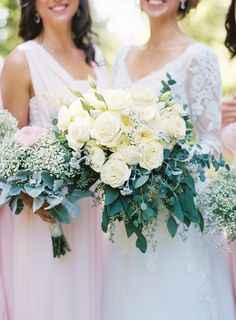 Ivory roses, baby's breath and eucalyptus wedding bouquet: Photography: Graham Terhune Photography - grahamterhune.com   Read More on SMP: http://stylemepretty.com/vault/gallery/85269