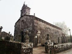 1000 Lugares en Galicia: Iglesia Románica de Abanqueiro en Boiro, Ría de Ar...