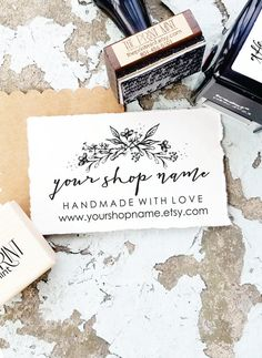 Custom Business Stamp Logo Rubber By Theprintmint Stamped Cards