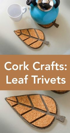 I absolutely love modern cork crafts! These leaf trivets are very simple to make - a budget friendly idea with great results. So perfect for fall! via @diy_candy