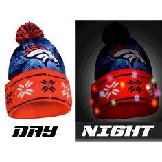 3a464704cd9ba Denver Broncos NFL Big Logo Light Up Printed Beanie