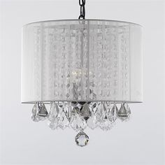 Gallery Lighting sm-604-3 3 Light Crystal Chandelier with Black Shade