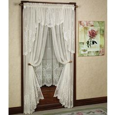 Cameo Rose Lace Window Treatment