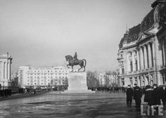 Statuia Carol I 1940 Bucharest, Louvre, Building, Travel, Romania, Viajes, Buildings, Destinations, Traveling