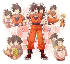 Goku and his sons, Gohan and Goten