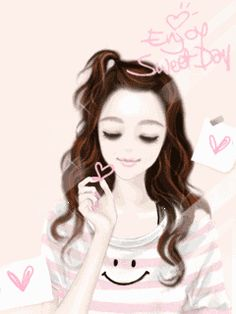 Cute girl cartoon 14 - 240 x 320 Cute Wallpapers For Ipad, Cute Wallpaper For Phone, Cute Girl Wallpaper, Cute Wallpaper Backgrounds, Cute Profile Pictures, Girl Pictures, Korean Anime, Tumblr Art, Lovely Girl Image