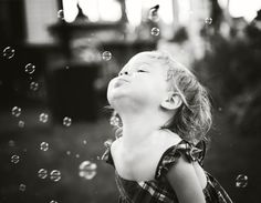 Bubbles - great prop idea for a toddler.
