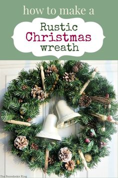 How to make a rustic Christmas wreath using rustic elements such as pine cones, traditional clothes pins and re-purposed, earthy colored necklace beads, #rusticwreath #pinecones #Christmaswreath #Naturalwreath #repurposedbeads #upcycled How to Make a Rustic Christmas Wreath, theboondocksblog.com Rustic Christmas, Christmas Wreaths, Christmas Crafts, Christmas Decorations, Holiday Decor, Christmas Ideas, Holiday Desserts, Outdoor Christmas, Christmas Inspiration