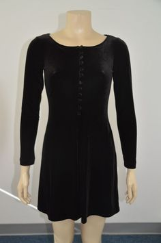 BCBG MAX AZRIA Black Velvet Mini Dress Size Medium Polyester Blend On Sale ss #BCBGMAXAZRIA #Bubble #Cocktail
