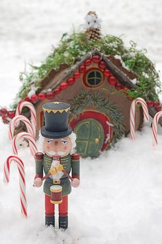 Build a tiny garden house in your yard and welcome in all the Christmas fairies this holiday season.