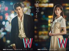 The drama W is revealed teasers videos ... series posters