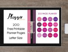 Planner Addiction | 200 Free  Printable Planner Pages