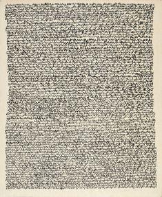 Irma Blank, Eigenschriften, Untitled, 1970, pastel on cardboard, 46×38 cm