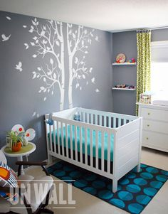 Wall Decals are a simple and excellent way to add color and excitement to a Playroom, Nursery, Bedroom, or any other room that needs a boost.  [WHATS INCLUDED]  2 vinyl wall tree decal with leaves - approx. 94.5 tall ( 240cm tall)  5 birds  1 install information  1 squeegee [COLOR]  Please specify your preferred colors or add a note at the checkout. If colors are not specified decal will be sent as shown in first listing picture.  Please note - * Trees color * Leaves color * Birds color…