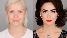 BLOWN AWAY by this amazing (and easy!) makeup transformation created by professional makeup artist Lisa Eldridge. Elizabeth Taylor Inspired Makeup Tutorial #FacePaintBook