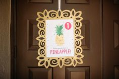 Pineapple party sign