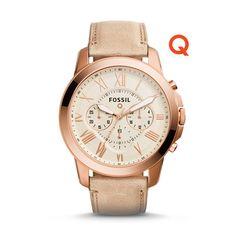 Q Grant Chronograph Sand Leather Smartwatch