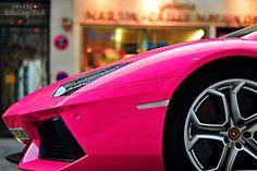 Hot pink lambourghini