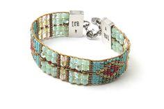 Turquoise Turtles Bracelet - Bracelets - Jewelry   Peyote Bird Designs