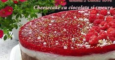 Cheesecake cu ciocolata si zmeura Caviar, Biscuit, Cheesecake, Fish, Meat, Cheesecakes, Pisces, Crackers, Cherry Cheesecake Shooters