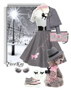 """Poodle love"" by tarakaypoly ❤ liked on Polyvore featuring Carrera, ANNIE, Tory Burch, Napoleon Perdis, Julien David and contestentry"