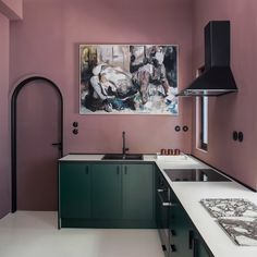 Ten home kitchens that use colour to make a statement Green Kitchen Island, Kitchen Colors, Tokyo Apartment, Yellow Cabinets, Hybrid Design, Yellow Walls, Purple Walls, Kitchen Units, Abandoned Houses
