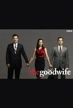 Top Lawyer TV Series: ••The Good Wife•• on CBS • S1 23E 2009-09-22 to S5 2013 16E, S6 2014 still in production by March 2014 • stars: Julianna Margulies as Alicia Florrick + Josh Charles as Will Gardner + Christine Baranski as Diane Lockhart + Archie Panjabi  as Kalinda Sharma + Matt Czuchry as Cary Agos + Alan Cumming as Eli Gold + Chris Noth as Peter Fl. + Mary Beth Peil as Jackie Fl. +  Zach Grenier as David Lee • depicted: official Poster with Peter / Alicia / Will