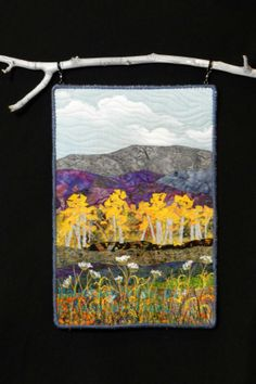 Mountain View.  Small art quilt by Eileen Williams
