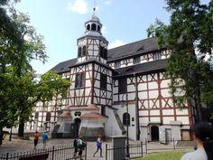 Javor. Jawor (Dolnosl. v.). Mírový kostel postavený na základě vestf. míru v letech 1654-6 dle projektu Albrechta Säbische z Vratislavi. Zvonice dostavěna r. 1709.