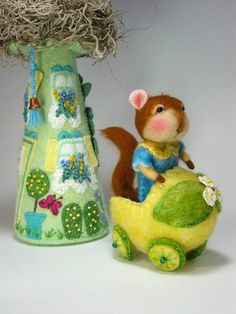 Dressed Mouse/Bunny Class Needle Felting Class to por barby303