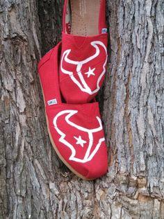 Houston Texans NFL Custom/Handpainted TOMS Shoes by RyleesMiscellanies on Etsy