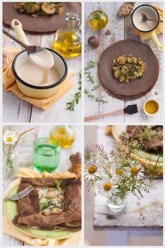 Galettes de sarrasin à la fondue de courgettes et « fromage » végétal ( Sans…