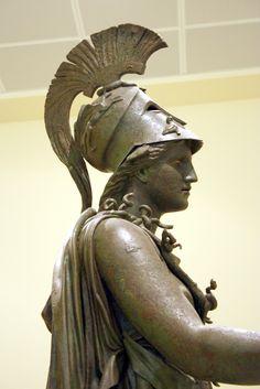 Bronze statue of the goddess Athena known as Athena of Piraeus