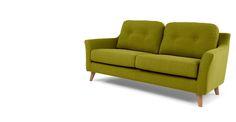 Rufus 2 Seater Sofa, Leaf Green