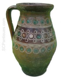 Antique Hand Made Pottery Jug Pitcher c.1800